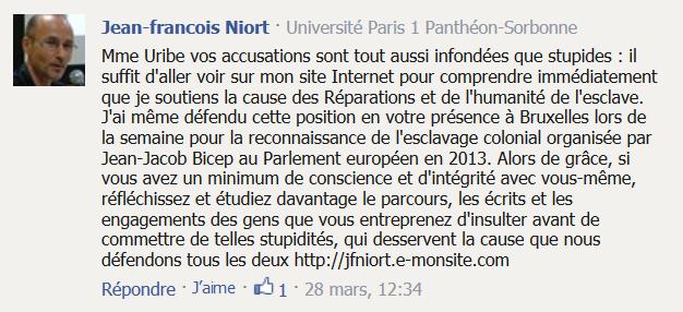 commentaire de Jean-François Niort