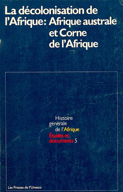 Etudes et documents: Histoire générale de l'Afrique, volume V